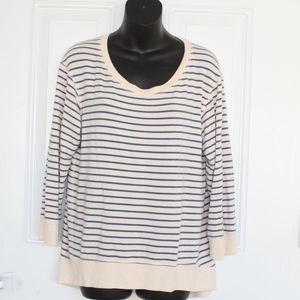 Theory Casual Pullover Sweater Top Size L Ivory